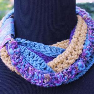 Tundra - Scarf, Twisted Fibers with..