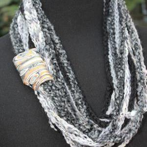 Black Marble - Womens Scarf, Mixed ..