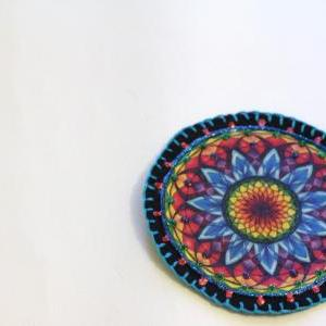 Hippie Boho Mandala Applique Patch,..
