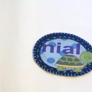 Turtle Name Patch, Personalized Han..