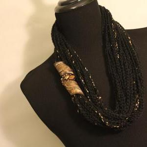 Black Gold - Womens Twisted Scarf, ..