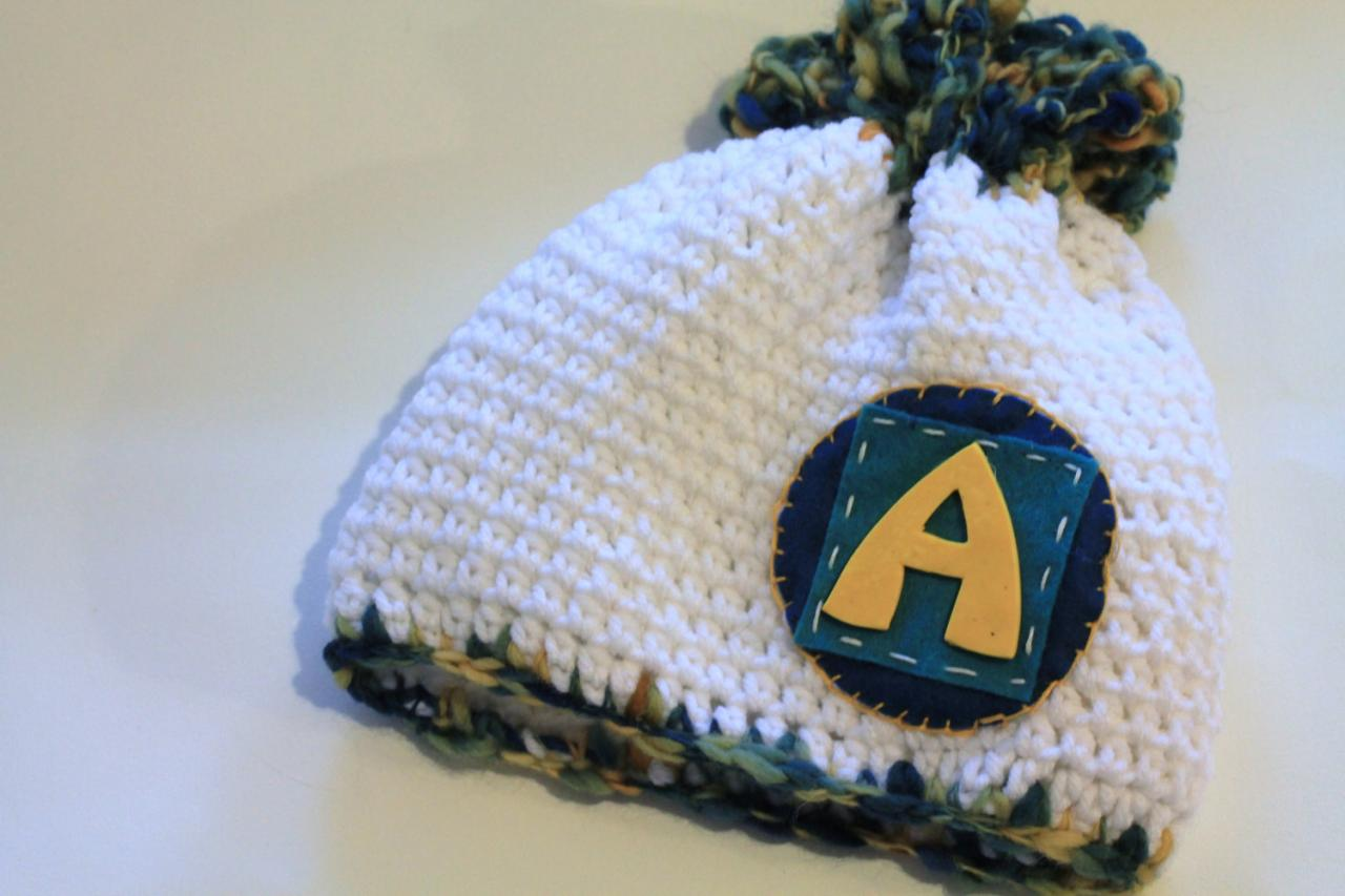 Personalized Baby Hat, Baby Beanie, Initials, Monogram, Baby Gift, Photo Prop