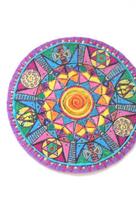 Mandala Multi Color Applique, Patches for Denim
