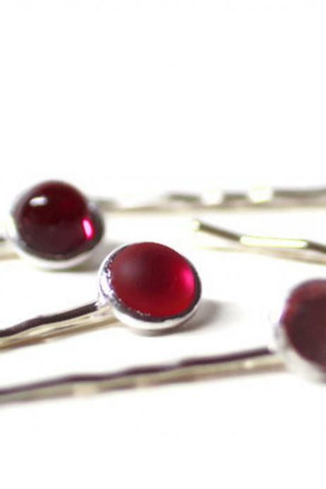 Pink Hair Pins, Shades of Pinks and Purple Hair Pins, Jeweled Hair Pins