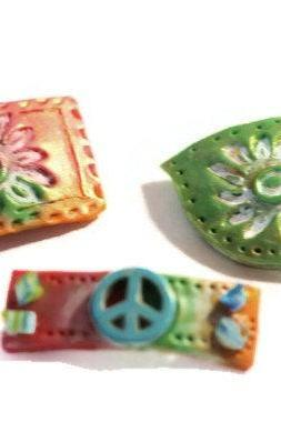 Colorful Hair Clips, Boho Hair Barrettes, Small Clips for Short Hair